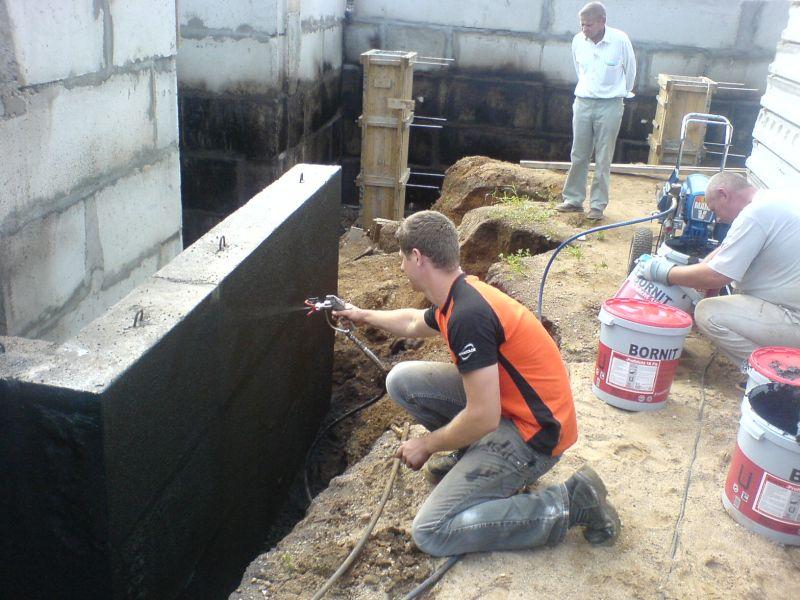 Statinių hidroizoliacijos įrengimas
